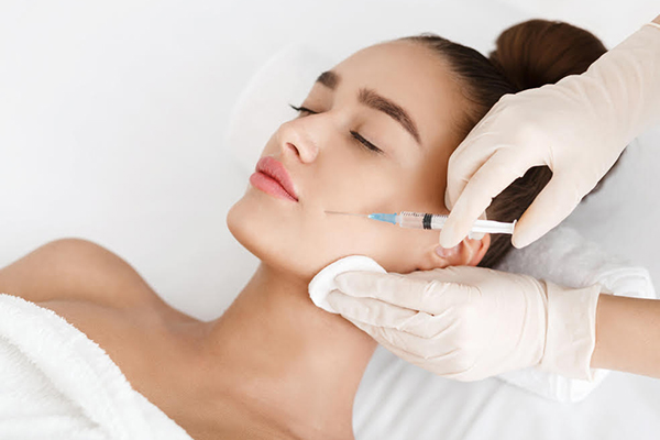 Receiving Botox Injections